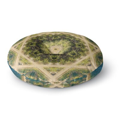 Nick Nareshni Forest Green Mandala Geometric Round Floor Pillow Size: 26 x 26