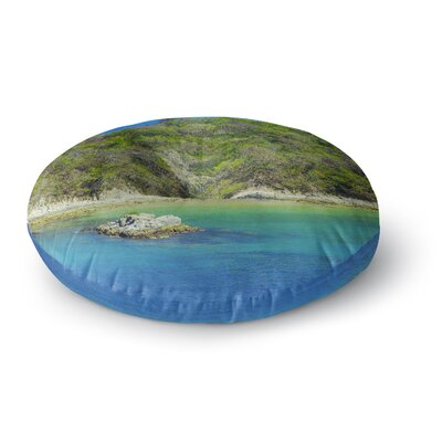 Nick Nareshni The Lonely Fisherman Photography Round Floor Pillow Size: 26 x 26