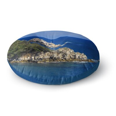 Nick Nareshni Stone Ocean Walls Photography Round Floor Pillow Size: 26 x 26