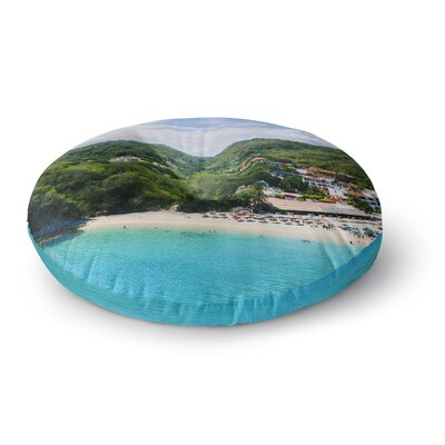Nick Nareshni Forest on the Beach Photography Round Floor Pillow Size: 26 x 26