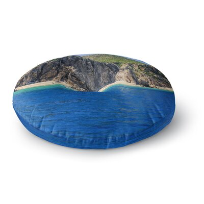 Nick Nareshni Stone Hills Coastline Photography Round Floor Pillow Size: 26 x 26