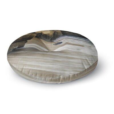Nick Nareshni La Jolla Cliffside Sandstone Photography Round Floor Pillow Size: 26 x 26