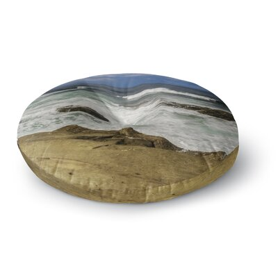 Nick Nareshni Exposed Above Water Sandstone Photography Round Floor Pillow Size: 26 x 26