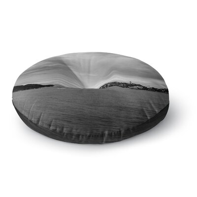 Nick Nareshni Deep Cloudy Ocean Photography Round Floor Pillow Size: 26 x 26