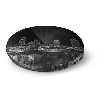 Nick Nareshni Cityscape Nights Photography Round Floor Pillow Size: 26 x 26