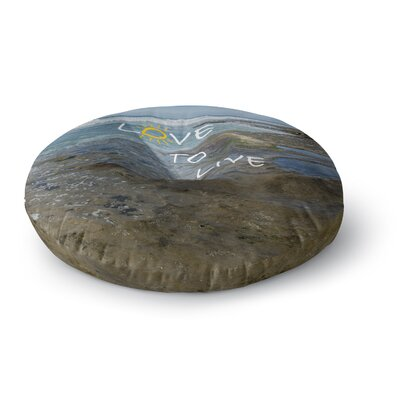Nick Nareshni Love to Live Photography Round Floor Pillow Size: 26 x 26