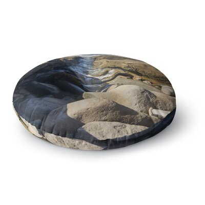 Nick Nareshni Stone Beach Reef Photography Round Floor Pillow Size: 26 x 26