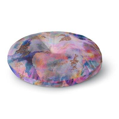 Nikki Strange Sparkle Mist Round Floor Pillow Size: 23 x 23