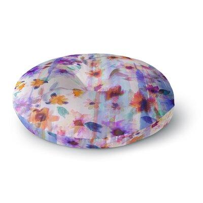 Nikki Strange Floral Ombre Round Floor Pillow Size: 26 x 26