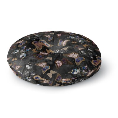 Nikki Strange Galactic Butterfly Round Floor Pillow Size: 26 x 26