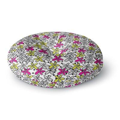 Nandita Singh Floral Spread Round Floor Pillow Size: 26 x 26