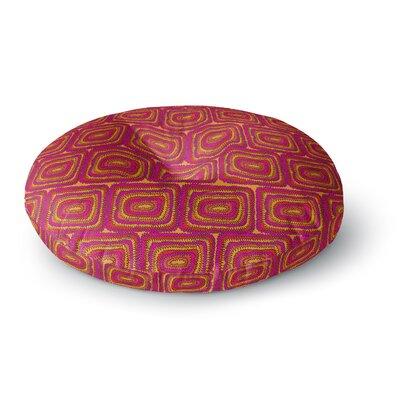 Nandita Singh Bright Squares Round Floor Pillow Size: 26 x 26