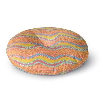 Nandita Singh Pink Waves Round Floor Pillow Size: 26 x 26