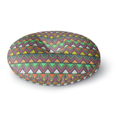 Nandita Singh Pattern Play Rainbow Chevron Round Floor Pillow Size: 23 x 23