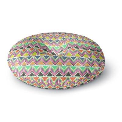 Nandita Singh Pattern Play Multi Rainbow Chevron Round Floor Pillow Size: 26 x 26