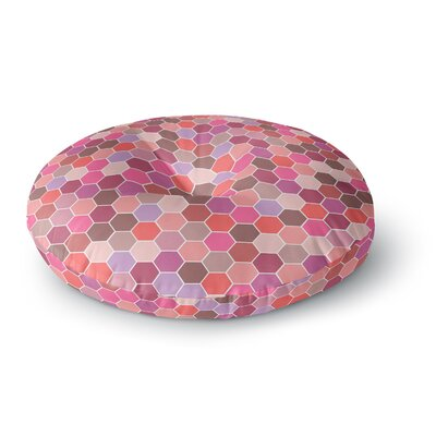 Nandita Singh Blush Tiled Round Floor Pillow Size: 26 x 26