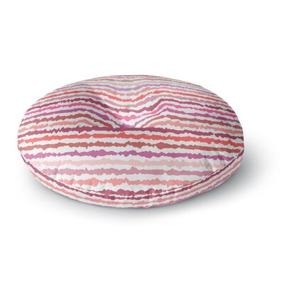 Nandita Singh Blush Stripes Striped Round Floor Pillow Size: 23 x 23