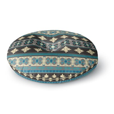 Nandita Singh Borders Blue Round Floor Pillow Size: 26 x 26