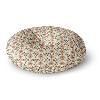 Nandita Singh Floral Peach Round Floor Pillow Size: 26 x 26
