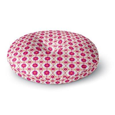 Nandita Singh Floral Pink Round Floor Pillow Size: 23 x 23
