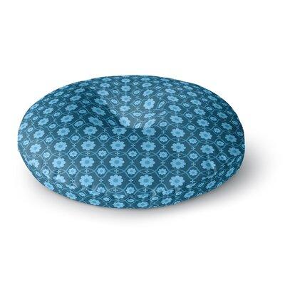 Nandita Singh Floral Blue Round Floor Pillow Size: 26 x 26