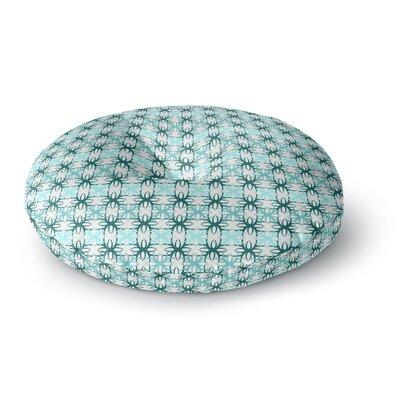 Nandita Singh Blue Motifs Geometric Round Floor Pillow Size: 23 x 23