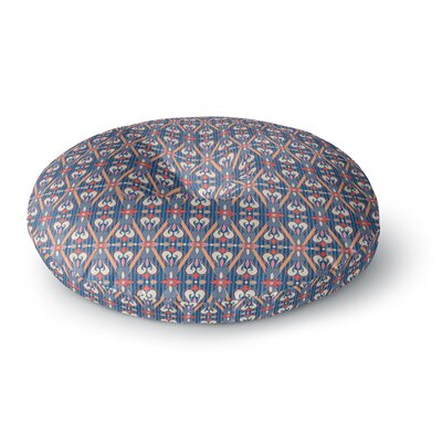Nandita Singh Beautiful Border Ethnic Arabesque Round Floor Pillow Size: 26 x 26