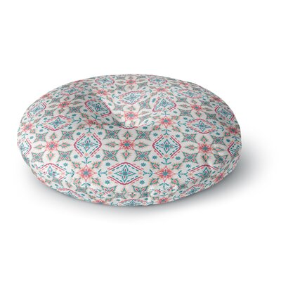 Nandita Singh Moroccan Beauty Ethnic Arabesque Round Floor Pillow Size: 26 x 26