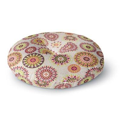 Nandita Singh Mandala Floral Floral Round Floor Pillow Size: 23 x 23