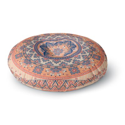Nandita Singh Mandala Magic Digital Ethnic Round Floor Pillow Size: 26 x 26