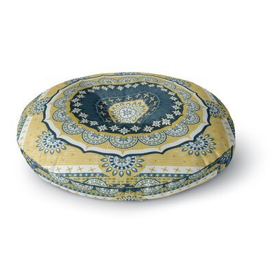 Nandita Singh Chakra Digital Round Floor Pillow Size: 26 x 26