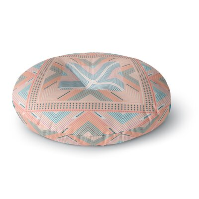 Nandita Singh Zigzag Digital Round Floor Pillow Size: 23 x 23