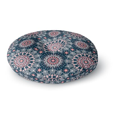 Nandita Singh Noor-blue Digital Round Floor Pillow Size: 26 x 26