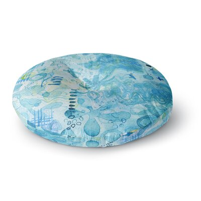 Nic Squirrell Floating Watercolor Round Floor Pillow Size: 26 x 26