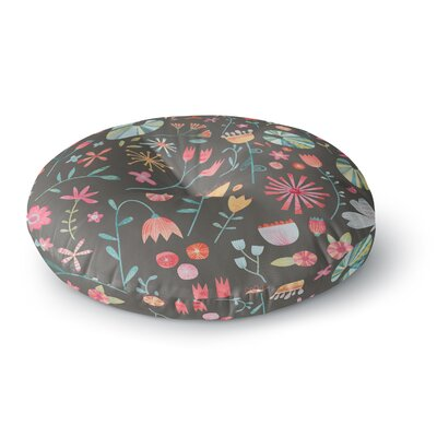 Nic Squirrell Wayside Flowers Floral Round Floor Pillow Size: 26 x 26