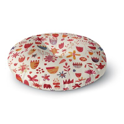 Nic Squirrell Spring Flowers Round Floor Pillow Size: 23 x 23