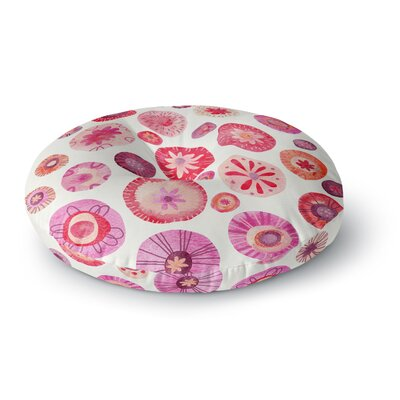 Nic Squirrell All the Flowers Round Floor Pillow Size: 26 x 26