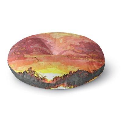 Oriana Cordero Horizon Sky Round Floor Pillow Size: 26 x 26