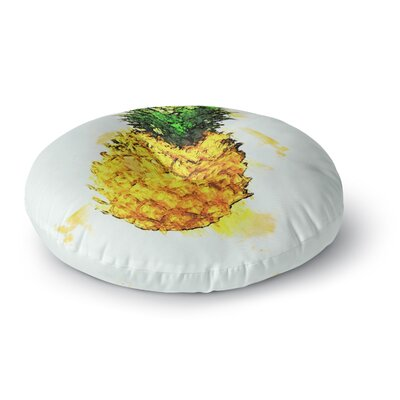 Oriana Cordero Slice of Summer Round Floor Pillow Size: 26 x 26