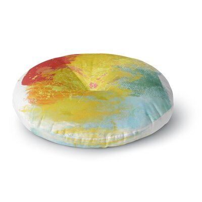 Oriana Cordero Medley Colorful Paint Round Floor Pillow Size: 23 x 23