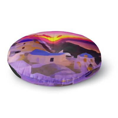 Oriana Cordero My Konos Sunset Round Floor Pillow Size: 23 x 23