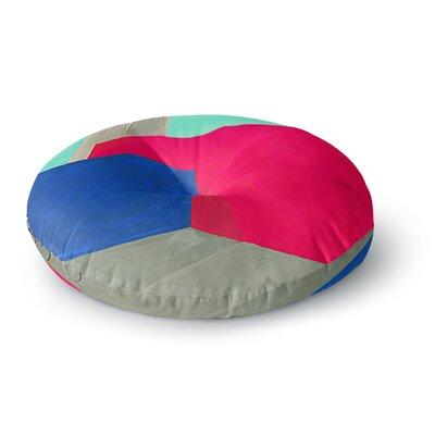 Oriana Cordero Corner Geometry Round Floor Pillow Size: 26 x 26