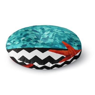 Oriana Cordero Turquoise Ocean Round Floor Pillow Size: 26 x 26