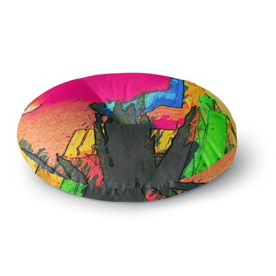 Oriana Cordero Days of Summer Rainbow Abstract Round Floor Pillow Size: 23 x 23