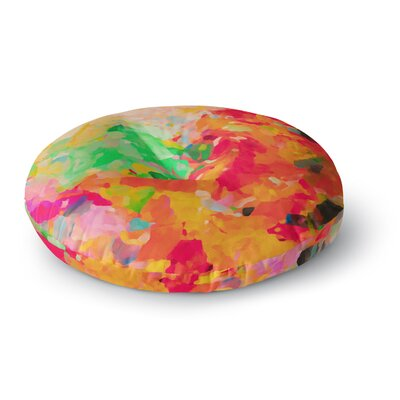 Oriana Cordero La Rochelle-Abstract Round Floor Pillow Size: 23 x 23