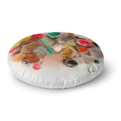 Oriana Cordero La Maddalena Abstract Round Floor Pillow Size: 26 x 26