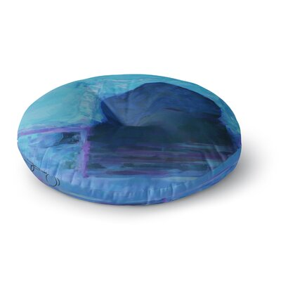 Oriana Cordero Chefchaouen-Blue City Round Floor Pillow Size: 23 x 23