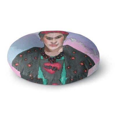 Oriana Cordero Trendy Frida Kahlo-Ferwell Round Floor Pillow Size: 23 x 23