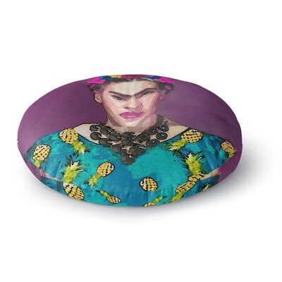 Oriana Cordero Trendy Frida Kahlo Round Floor Pillow Size: 26 x 26