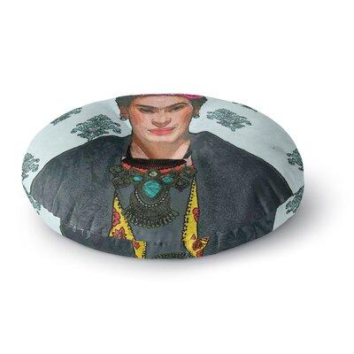Oriana Cordero Frida Kahlo-Trendy V2 Round Floor Pillow Size: 23 x 23